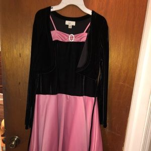 Girls pink and black dress